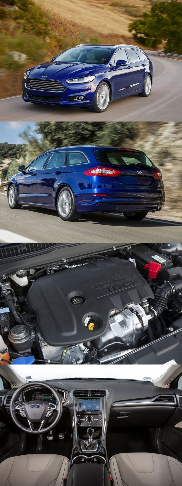 Ford mondeo wagon gets 1 6 litre tdci engine get more details at http