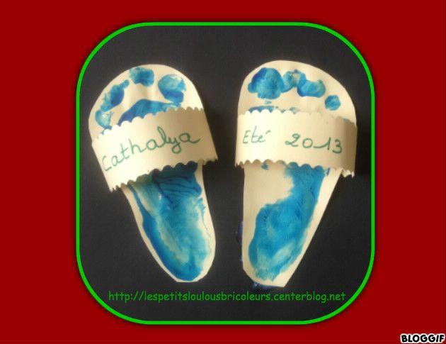 sandales bricolage enfant id es pour la garderie. Black Bedroom Furniture Sets. Home Design Ideas