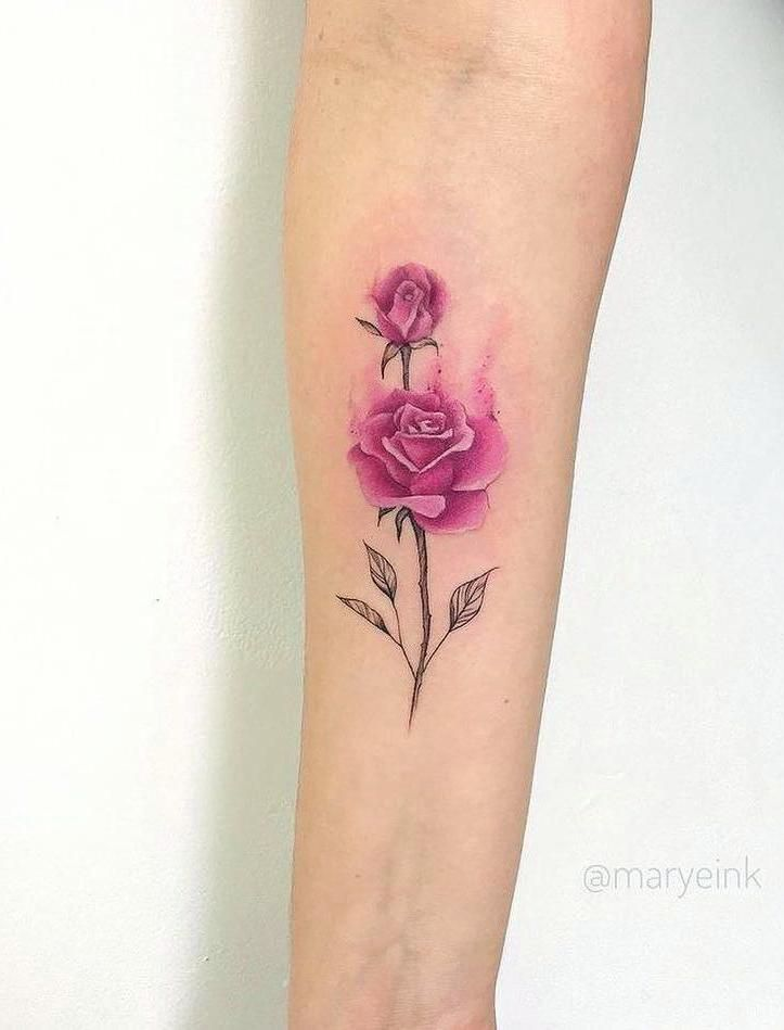 40 Simple Cute Tattoo Ideas Designs For You Pink Rose Tattoos Feather Tattoos Rose Tattoos