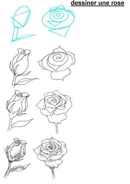 Картинки рисовать карандашом для начинающих поэтапно розу