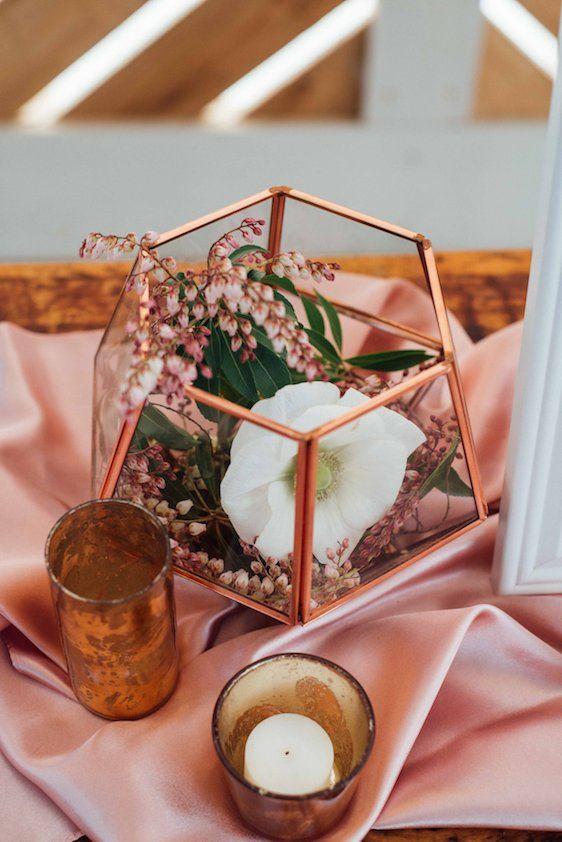 Best rose gold centerpiece ideas on pinterest