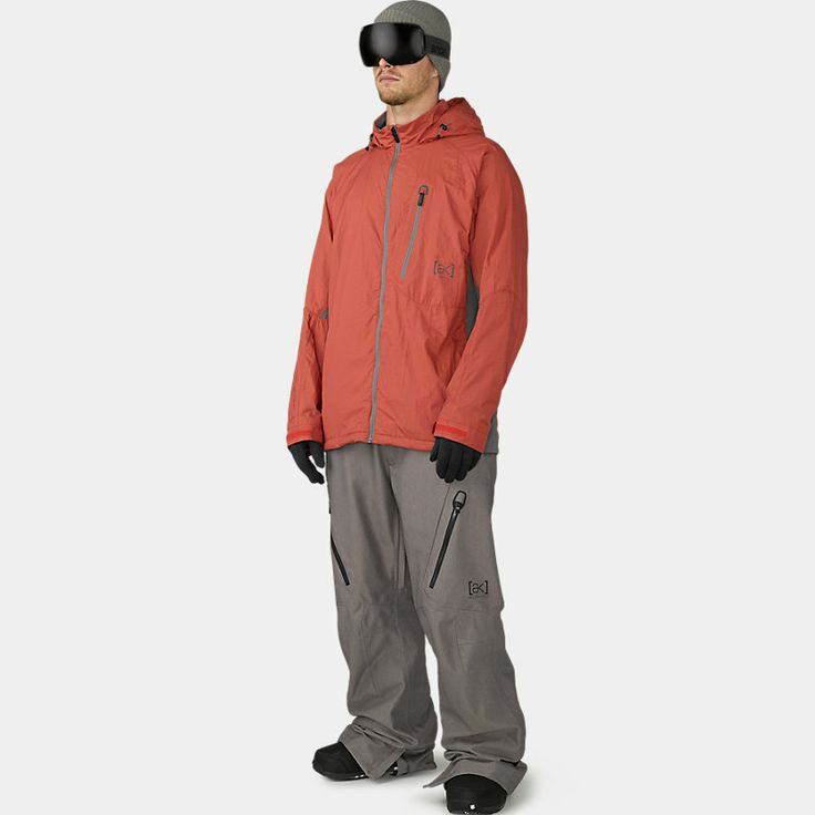 [ak] Pilot Snowboard Jacket. ak fit. Closed Cell Mesh Body Lining Silky, Lightweight 20D Sleeve Lining Extra Breathable Stretch Panels at Side Body and Under Arms Microfleece-Lined Tanker Collar