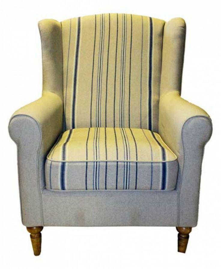 Armchair Somerset stripe 82*98*84 $460+ GST