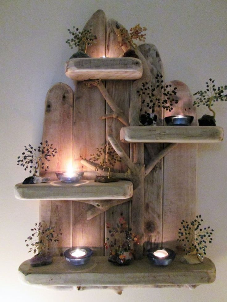 Large Magical Unique Driftwood Shelves Solid Rustic Shabby Chic Nautical   in Home, Furniture & DIY, Furniture, Bookcases, Shelving & Storage | eBay!