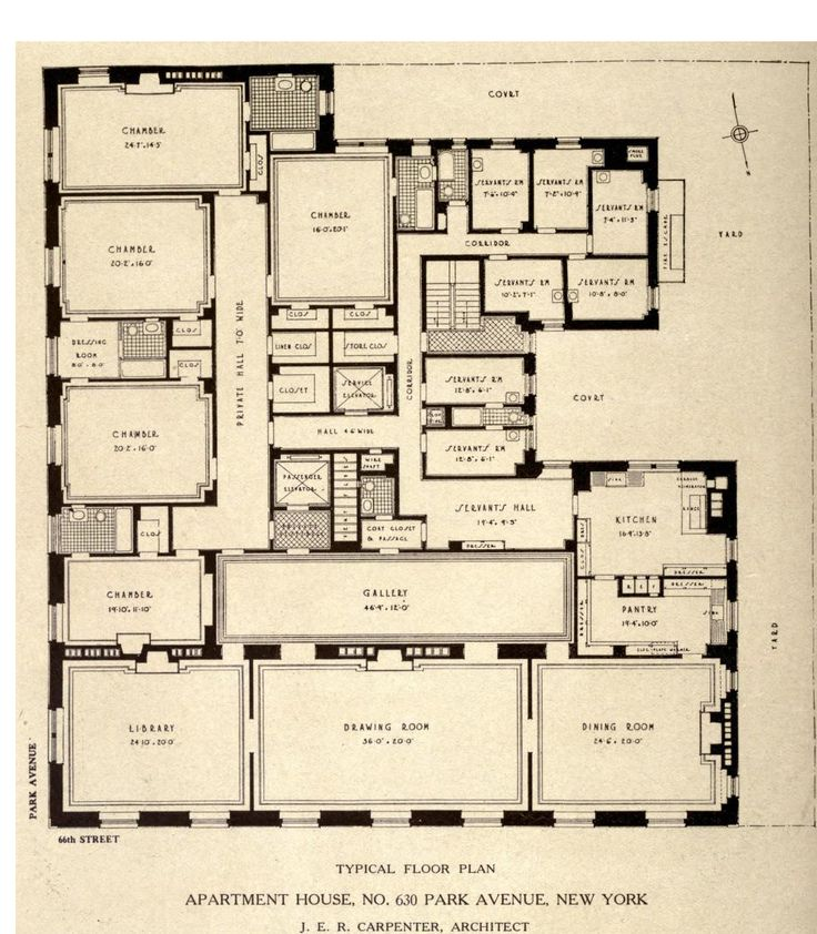 Best Websites To Find Apartments: Typical Floor Plan For 630 Park Avenue, New York