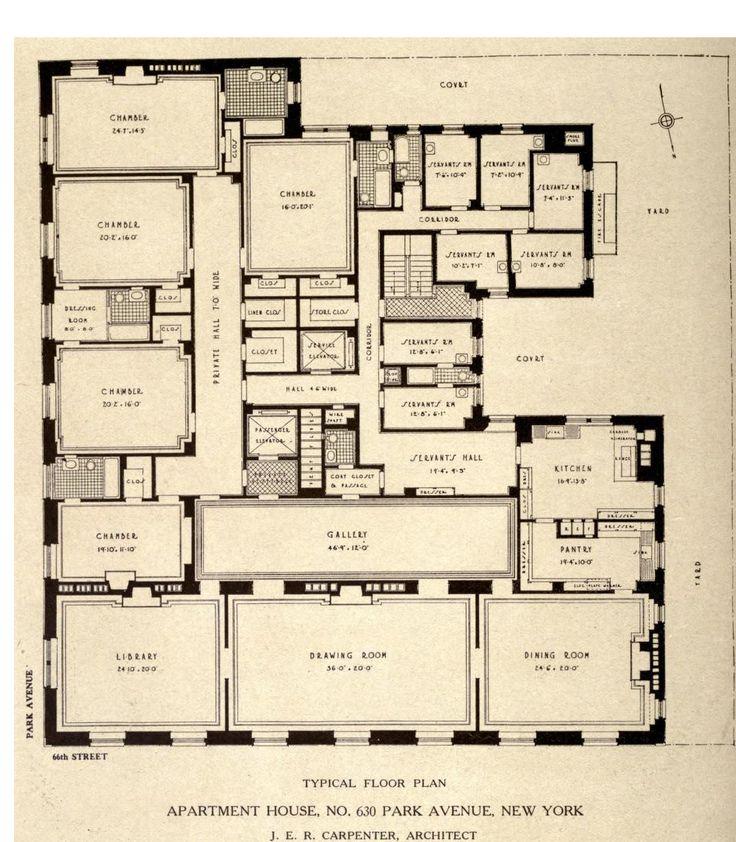 Luxury Apartments Condo Floor: Typical Floor Plan For 630 Park Avenue, New York