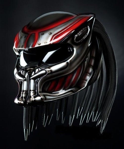 THE ALIEN PREDATOR HELMET STRET FIGHTER STYLE DOT APPROVED #CELLOS #Predator