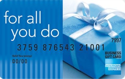 American Express for all you do blue