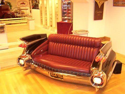Man Cave Car Furniture : Cadillac couch automotive furniture pinterest