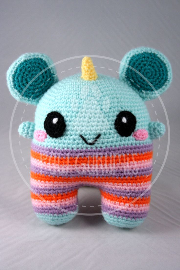 Shelly, the unicorn monster - 19 cm (7 inches) amigurumi by PawGurumis on Etsy