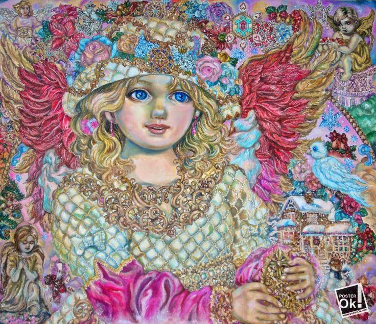 Репродукция - An angel of Christmas - Фото, изображение, купить постеры, заказать плакаты, картины на холсте. - Україна - Posterok.com