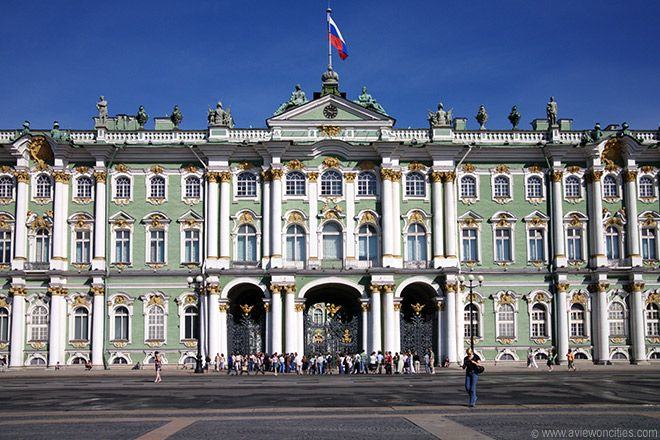 The Winter Palace at the Palace Square