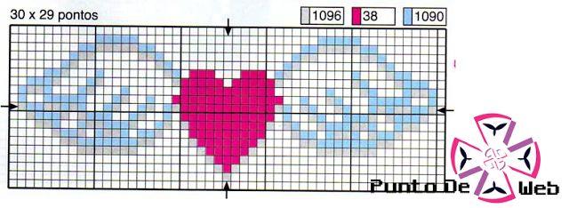Cross Stitch Pattern *<3*- - Corazón Con Alas