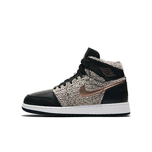 24b4f6edd69658 Jordan Air 1 Retro High GG Big kids Shoes Black Metallic Bronze White 332148