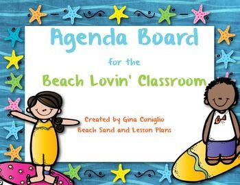 Agenda Board for the Beach Lovin' Classroom
