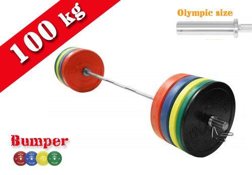 100kg Olympic Bumper Barbell Set