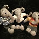 Knitted Elephants by Corinne Matus