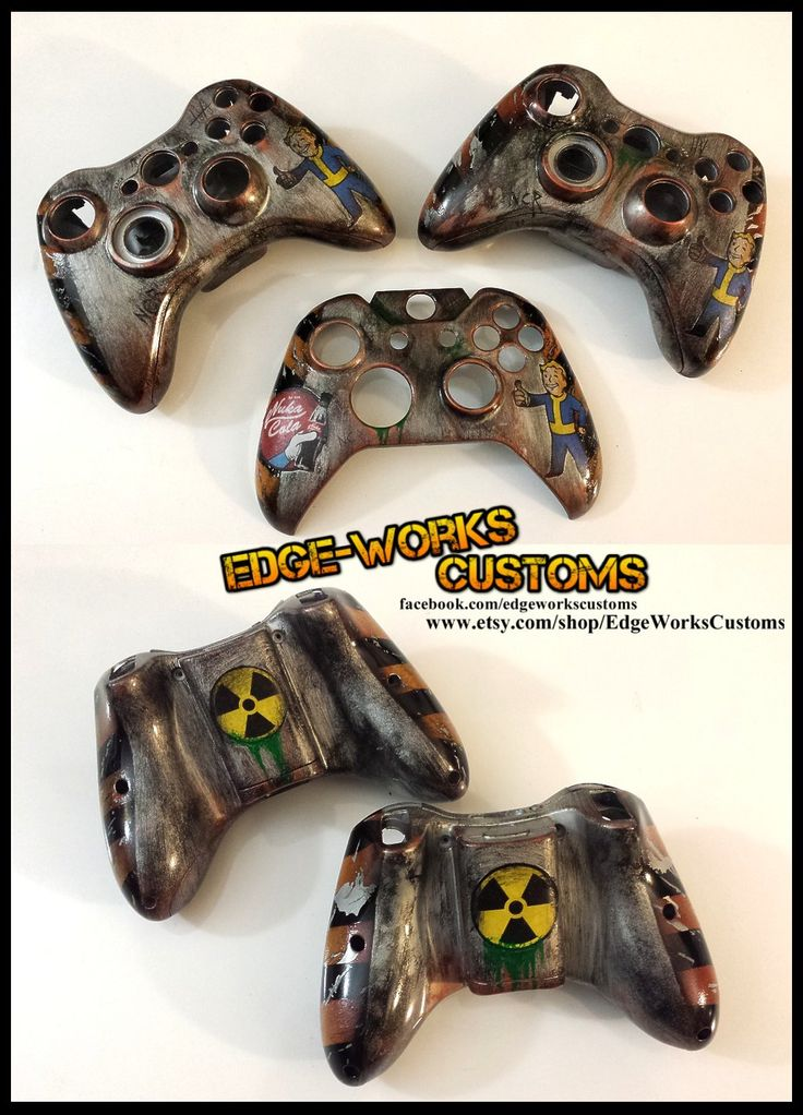 Fallout Xbox 360/One Controller Shells by Edge-Works.deviantart.com on @DeviantArt