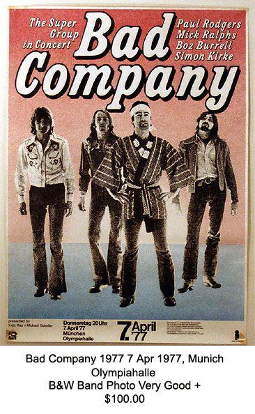 Bad Company - Germany 1977.
