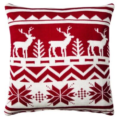 Target Decorative Christmas Pillows : Fair Isle Reindeer Pillow (Target) Christmas Decor & Inspiration Pinterest Fair isles ...