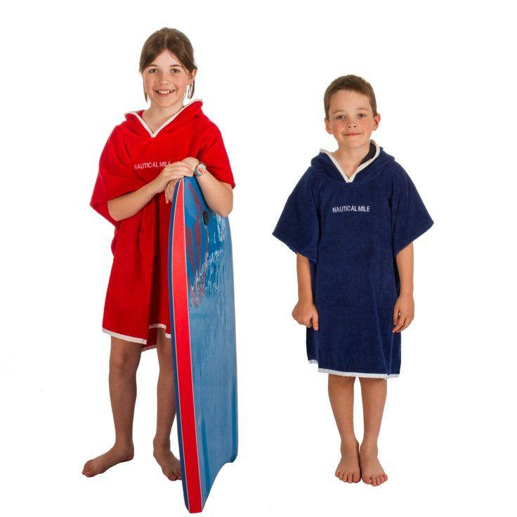 Superior quality hooded beach towels for children.  Perfect for the pool, beach or boat. www.nauticalmile.com.au