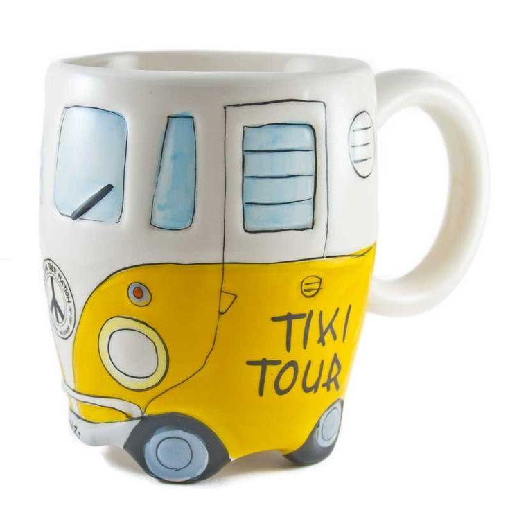 The Great Kiwi Road Trip Combie Mug - Yellow