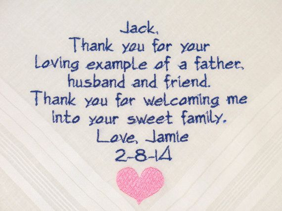Father of the Groom Personalized Wedding by NapaEmbroidery on Etsy, $24.95