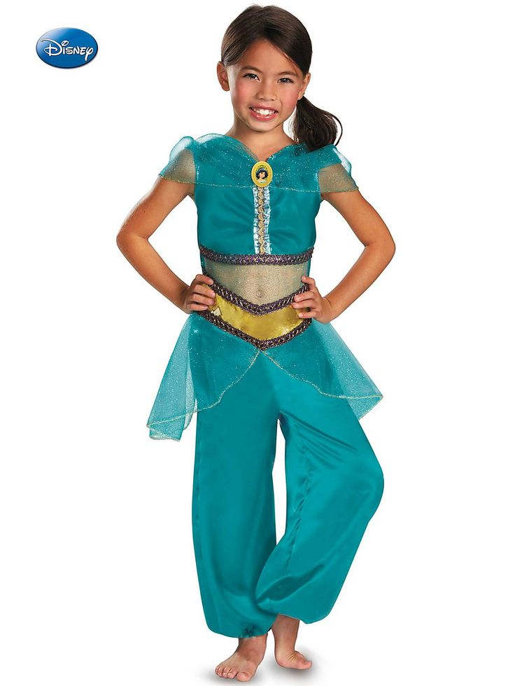 Kid's Disney Jasmine Sparkle Classic Costume! See more costume ideas for Halloween, dress up and more at WholesaleHalloweenCostumes.com!