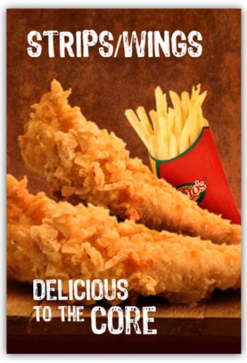 CHICKEN STRIPS #Delicious , #boneless , #juicy and #fried with #Mexican #flavour.