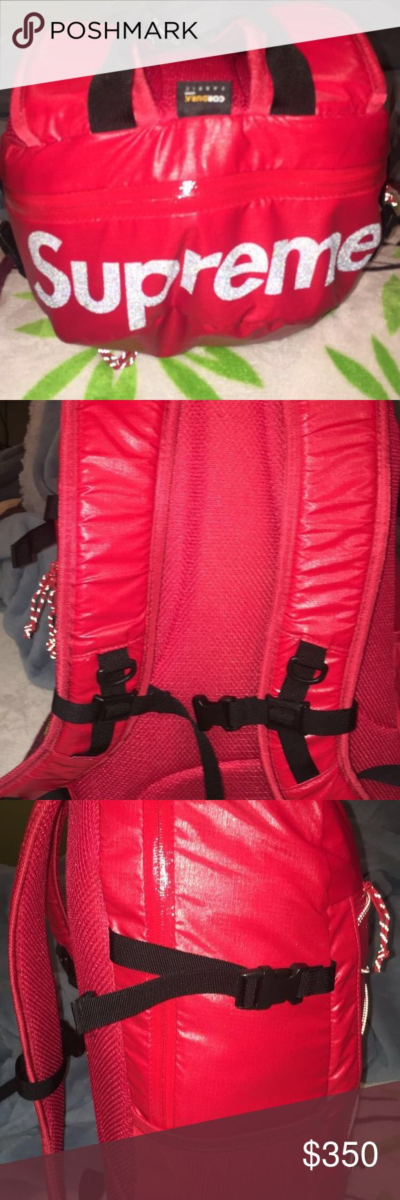 Selling Authentic Supreme Backpack Fall 2017 Red Supreme Backpack I have all the information of purchase.Bought on The supreme Online Store Supreme Bags Backpacks