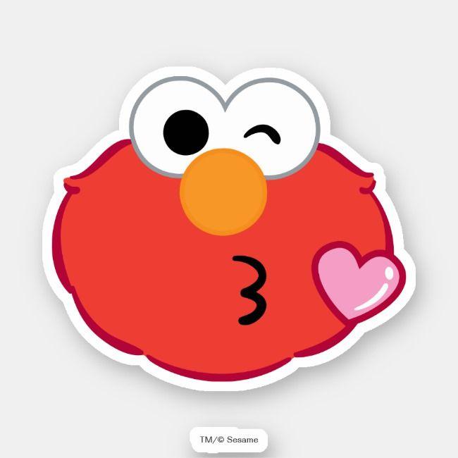 Elmo Face Throwing A Kiss Sticker Zazzle Com Elmo Wallpaper Elmo Kiss Stickers
