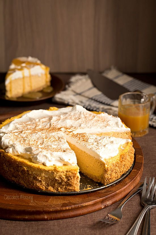 This creamy and easy Pumpkin Cheesecake recipe is a must-make dessert for the holidays and a great way to use up leftover canned pumpkin!!
