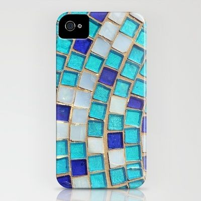 : Abstract Photographers, Iphone Cases, Iphone 4S, Tile Iphone, Phones Covers, Phones Cases, Mosaics Tile, Blue Tiles, Iphonecas