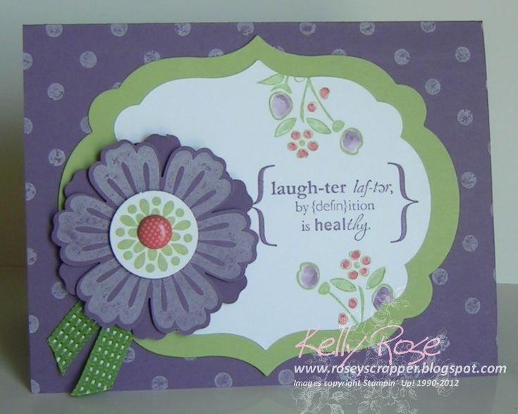 In appreciation of a friend who always makes me laugh.: Appreciation Thank, Su Word, Handmade Cards, Word Play, Appreciation Card, Play Handmade, Sc Cards Flower, Card Ideas, Flower Cards