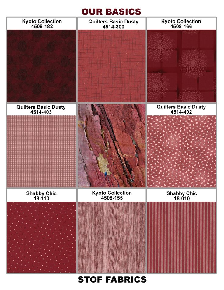 Marsala Plate (2015 Pantone Spring Color) with Stof Basic Collections.