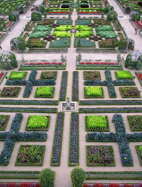 chateau de villandry the most amazing vegetable parterres - Garden Design Birds Eye View