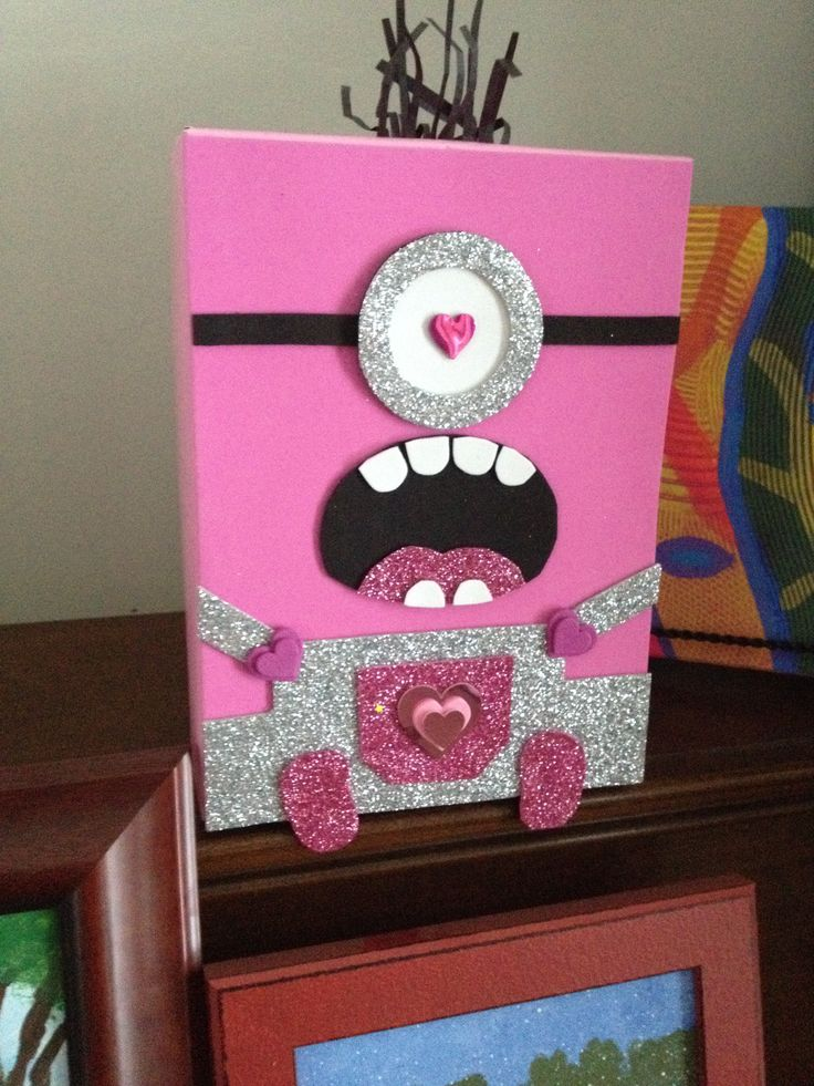 Best 25+ DIY Minion Valentineu0027s Box Ideas On Pinterest Minion    Valentines Day Boxs
