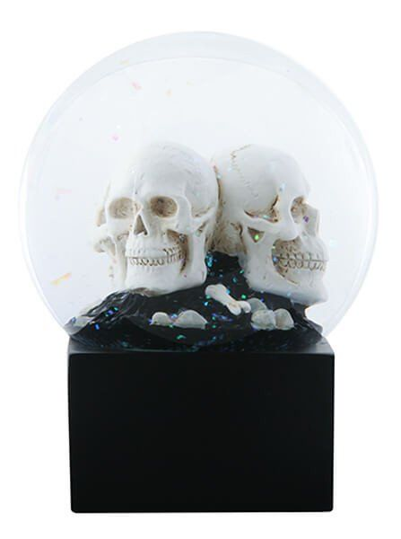 """LED Skull Heads"" Water Globe by Summit Collection"