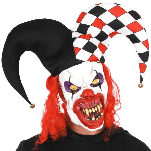 Let's Party With Balloons - Dr Tom's Creepy Jester Clown Full Face Mask, $50.00 (http://www.letspartywithballoons.com.au/dr-toms-creepy-jester-clown-full-face-mask/)