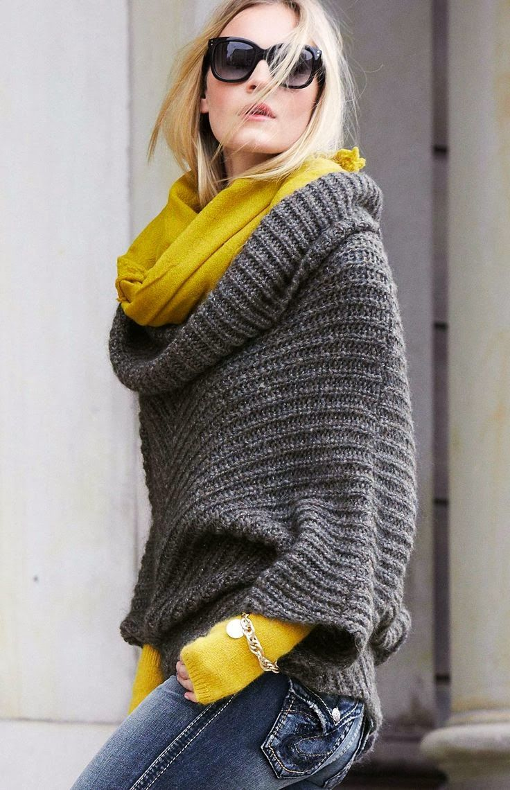 Weekend Fashion, Career Fashion for Casual Fridays - Fall/Winter Mustard and Grey Combination