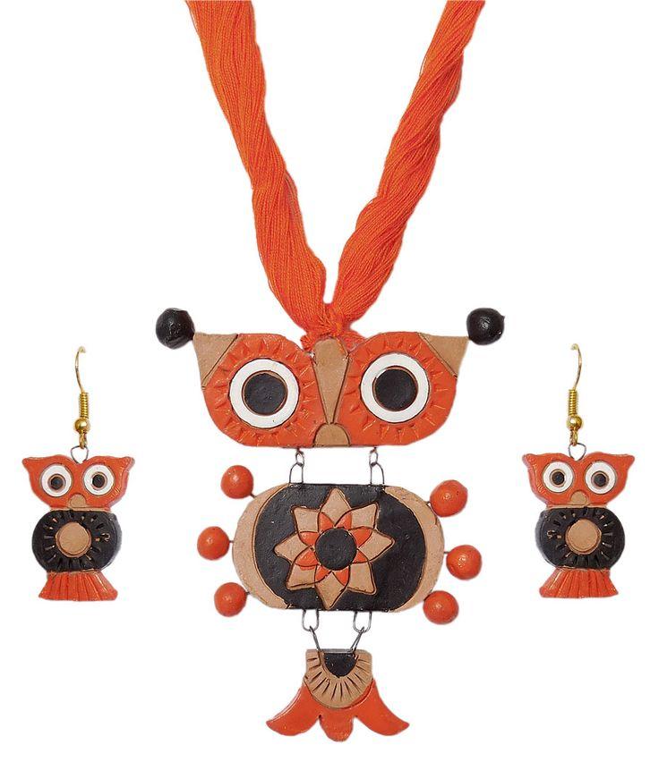 Terracotta Owl Pendant