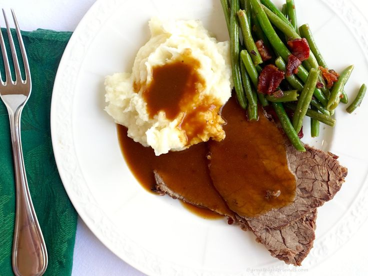 "Roast Beef, Mashed Potatoes and Gravy… my go to comfort food. When my mom says, ""What do you want for your birthday dinner?"" This has always been my answer. Not because it's roast beef, but because it's MOM's roast beef...."