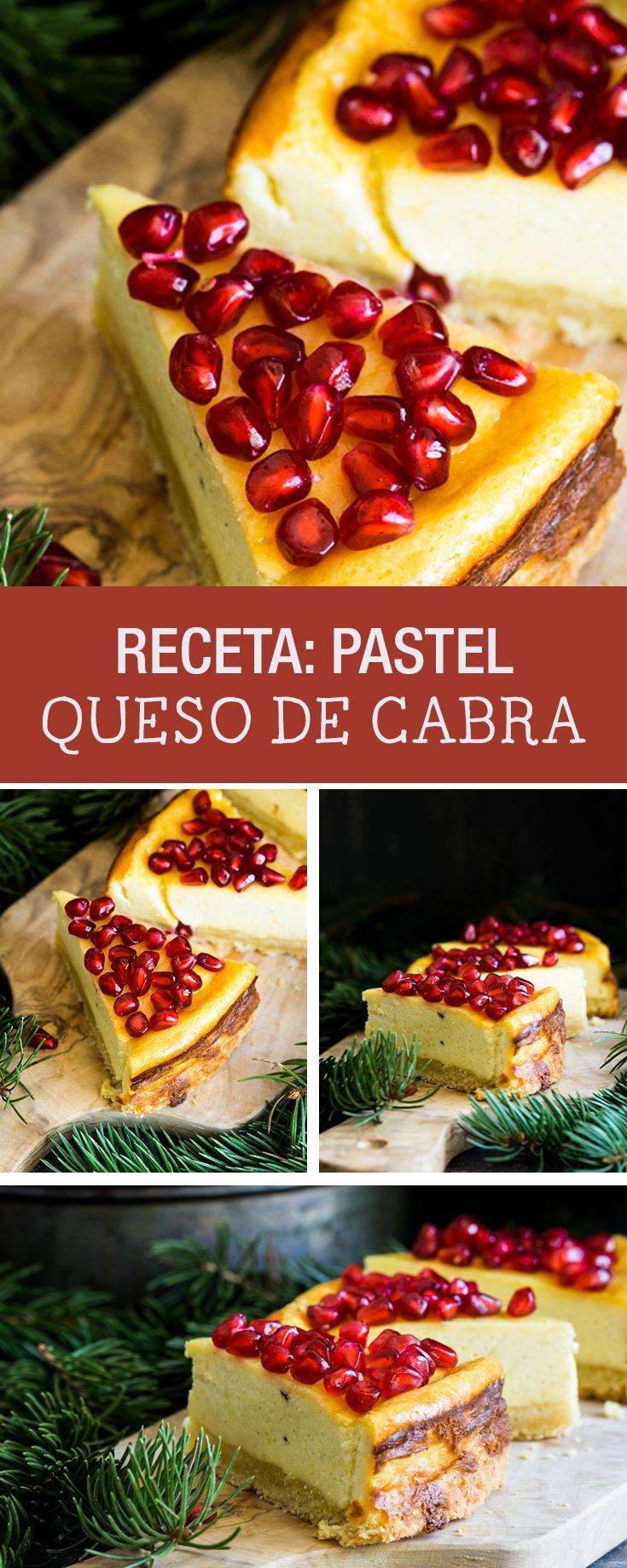 Receta: Cómo hacer pastel de queso de cabra y granada - Recetas y postres en DaWanda.es