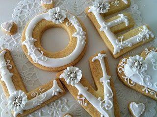 Love wedding cookies