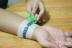 Create Your Own Temporary Tattoo  This is interesting. Just parchment paper and gel pens. Apply like a regular temporary tattoo. Cool!