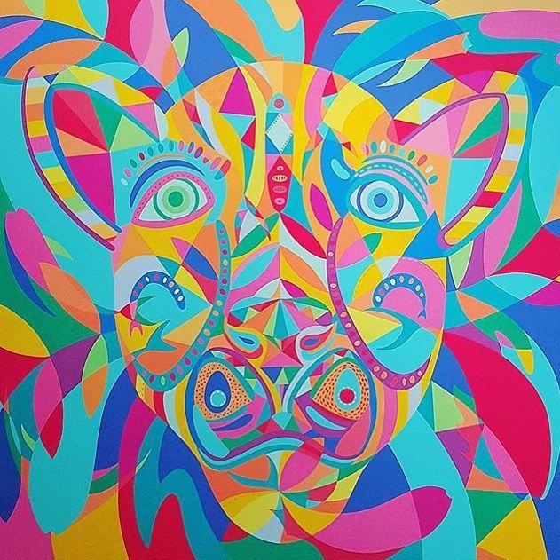 @lourdes_villagomez #gomdesigns #painted #artist #mexicanart #colorful #creative #trippy #cool