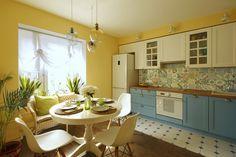 Интерьер с обложки: солнечная кухня-столовая | Свежие идеи дизайна интерьеров…