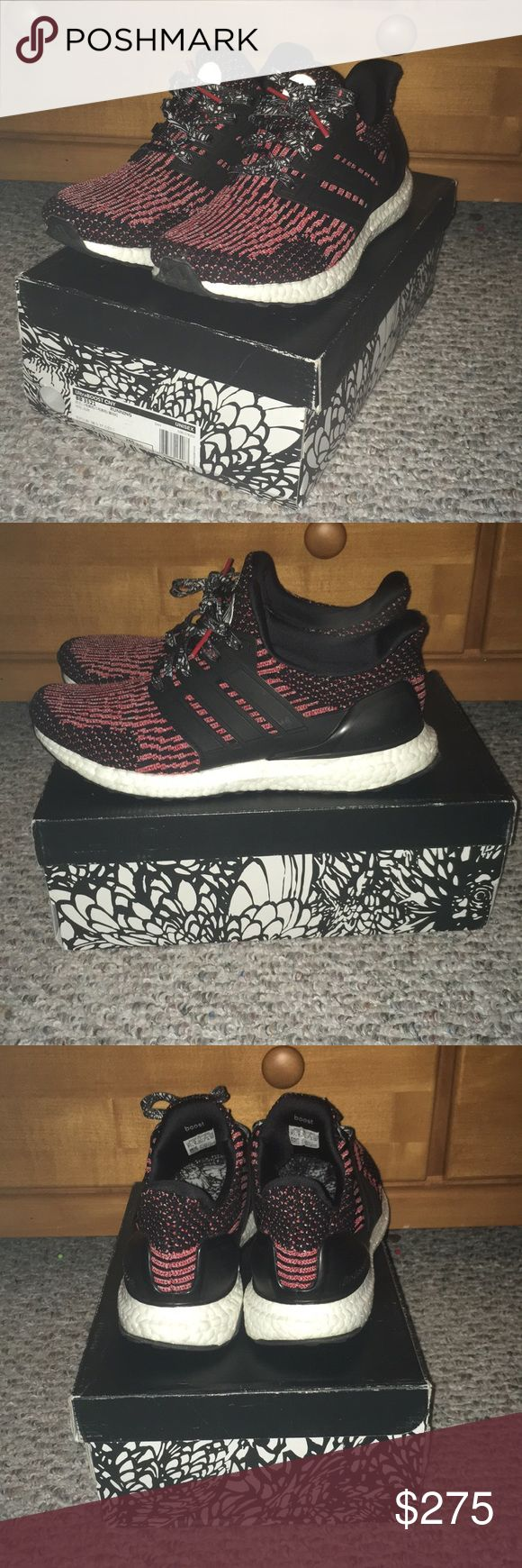 !!!LIKE NEW!!! CNY ultraboost 3.0 Worn 3 times and that's it! CNY ultraboost 3.0. Very comfortable shoe as many say, has soft boost, and a very clean color way! I wore these once to school, once to Atlanta, and once in the House, all while being as careful as I could with them. Everything comes from a smoke free home and is cleaned and deodorized before shipment! 275 (OR BEST REASONABLE OFFER NO LOW BALLERS), these go anywhere from 285 to 400 else where so in my opinion, its a fair price. If…