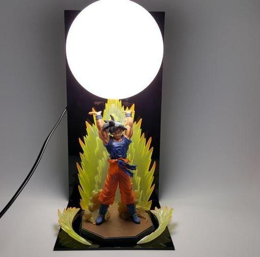 Dbz Son Goku Kamehameha Wave Yellow Diy 3d Led Light Lamp Saiyan Stuff Dragon Ball Dragon Ball Z Cool Lamps