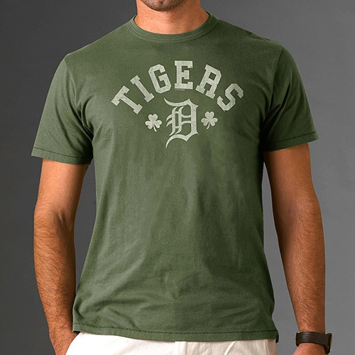 Very Cool Look! - Detroit Tigers St. Patrick's Day Topsail T-Shirt by '47 Brand